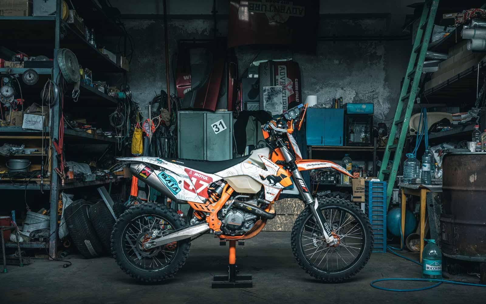 KTM 500EXC rally ultralight